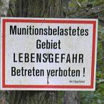 Peenemünde Ost - Warnschild
