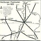 Postrouten in Nienburg